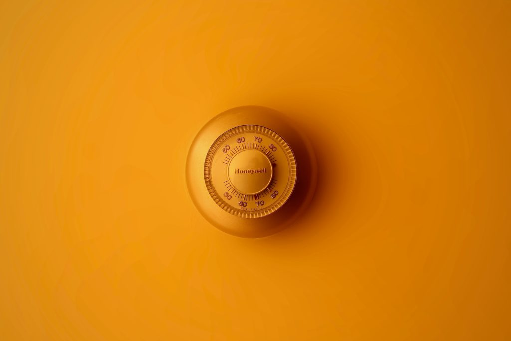 Image of a wall thermostat.